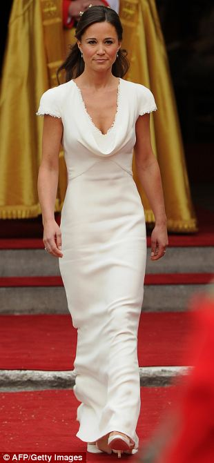 Aiming high: Pippa was nicknamed 'Panface' at school but went on to be dubbed Her Royal Hotness after her appearance as a bridesmaid at her sister's wedding to Prince William