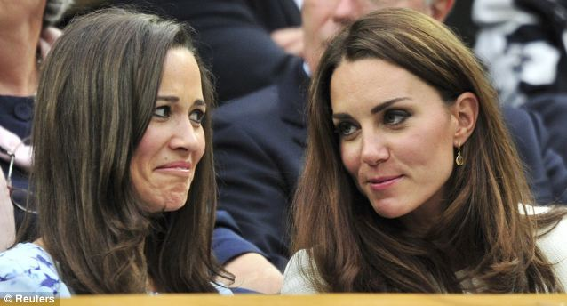 Talented: Though Kate, right, was a member of the hockey team at Marlborough, it was Pippa, left, who captained the side and was tipped to play for England
