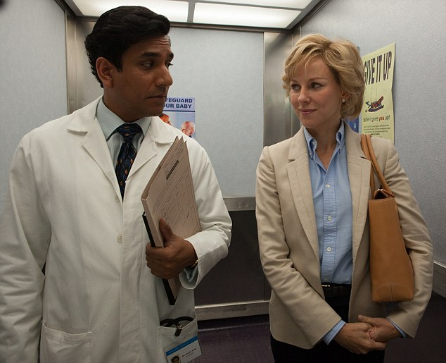 Naveen Andrews resembles not so much Mr Khan, but Bollywood's idea of what Khan should have looked like: a dishy doc and smouldering love god, not the overworked, paunchy medic Diana admired