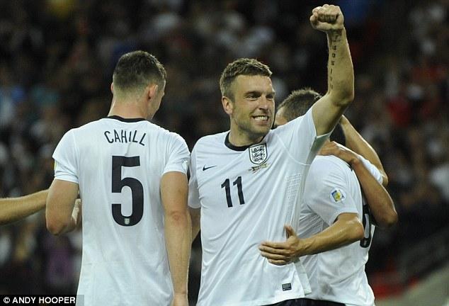 Best 11: Rickie Lambert celebrates putting England two up