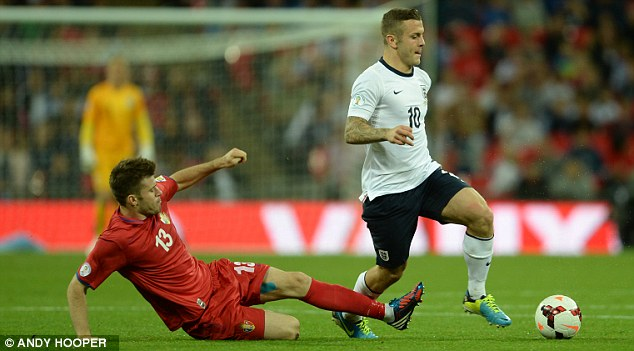 Driving on: Jack Wilshere played nearly an hour