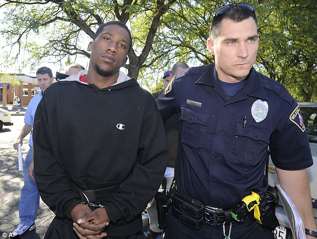 Connected: A witness saw Wright, 19, hand the gun to Breland on Sunday night