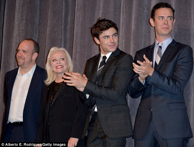Co-stars: Parkland stars Paul Giamatti, Jacki Weaver, Zac Efron and Colin attended the premiere during the 2013 Toronto International Film Festival at Roy Thomson Hall on Friday