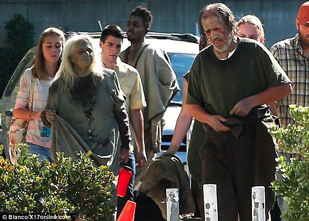 Vanessa was in good company as their were several unusual characters lurking about on set on Friday