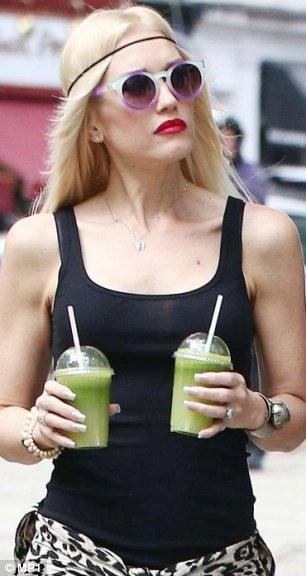 Gwen stefani loves juice