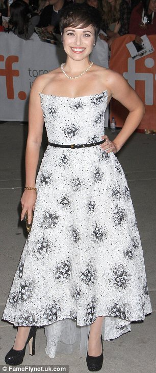 Striking: Up and coming star Kat Steffens provided some glamour at the Parkland premiere