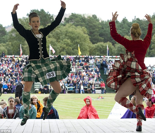 Bonny: Dancers take part in a traditional Highland dancing competition