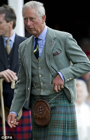 Prince Charles Traditionally, the royals attend a church service at nearby Crathie Kirk the day after the Games