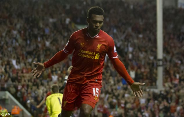 Favourite: Liverpool striker Daniel Sturridge is part of the Prince's fantasy football team