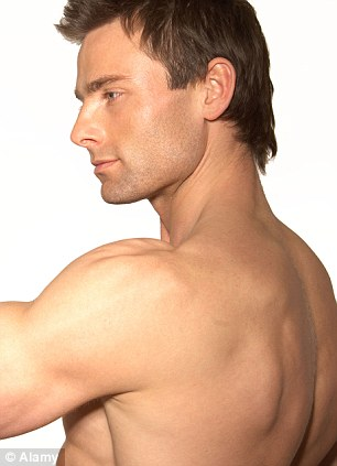 Appealing: The shoulder blades were liked by both sexes
