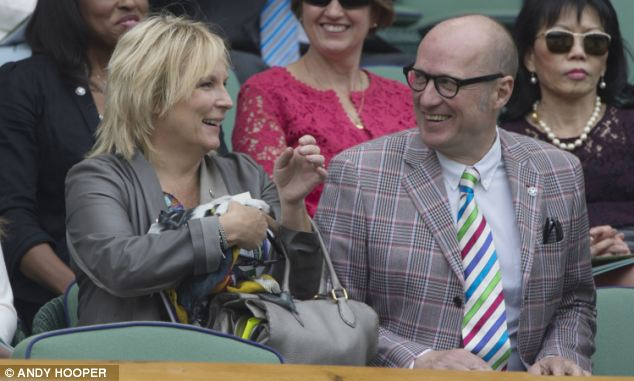 Hitting out: Davidson mocked Edmondson for not being as funny as his wife Jennifer Saunders