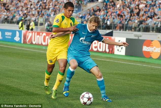 Balance: Tymoshchuk, formerly of Bayern Munich now at Zenit, will sit in midfield and protect the back four