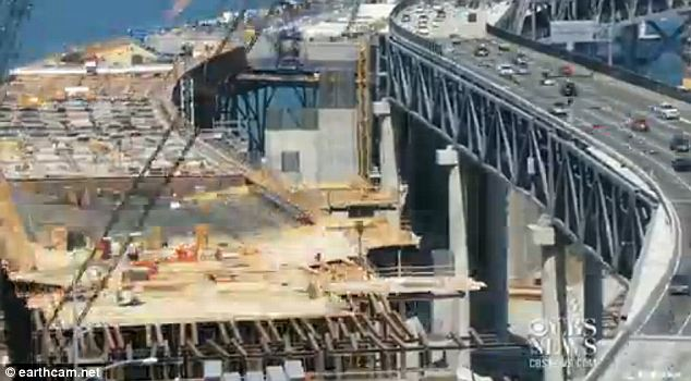 Not quite there: In March, more than two dozen rods used to anchor the roadway to important earthquake safety structures cracked after they were tightened, threatening to delay the bridge's opening by months