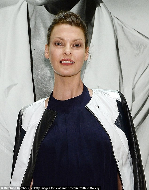 Evergreen: The iconic Canadian appeared dewy and fresh-faced, easily defying her 48 years