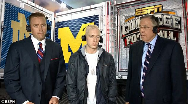 He's a fan! In one of the lighter moments of his appearance, Eminem told Brent Musburger that he thinks he's a legend