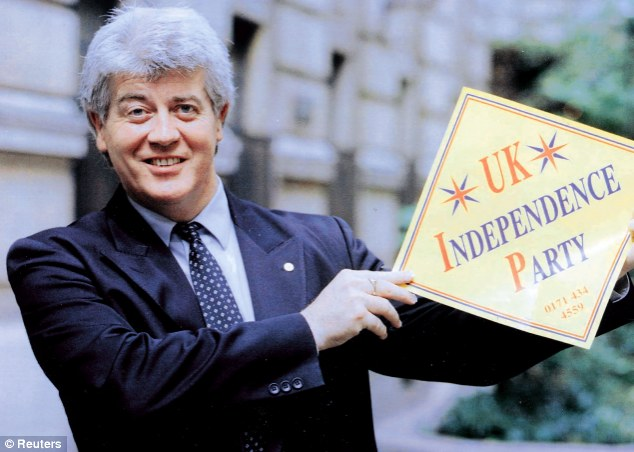 New direction: Professor Alan Sked in 1993 when he launched The UK Independence Party.