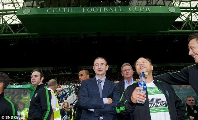 Comfortable hotseat: Martin O'Neill managed the Celtic XI