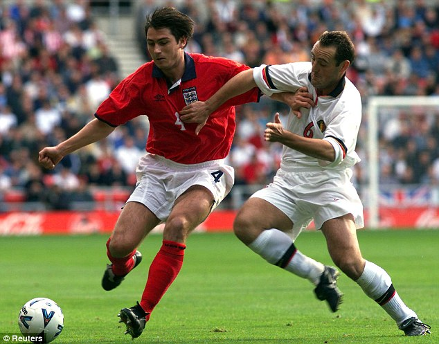 England debut: The midfielder first appeared for the national side under Kevin Keegan in 1999