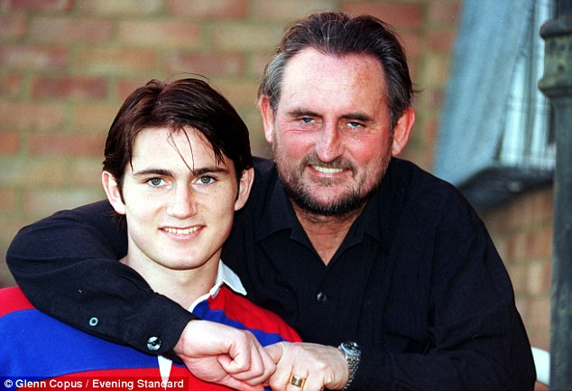 Greatest influence: Frank Jnr with his dad Frank Lampard Snr at West Ham's training ground in December 1997
