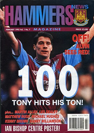 First: The copy of Hammers News magazine that contains the first interview with Frank Lampard