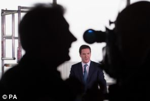 Chancellor of the Exchequer George Osborne made his speech at One Commercial Street