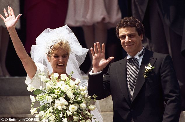 Family: At the time the journal was written, Robert's sister Kerry (left, see in 1990) was married to Andrew Cuomo (right), who was then worked in the Department of Housing and Urban Development but was mulling a gubernatorial run