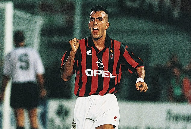 Veteran: Di Canio played for AC Milan between 1994 and 1996