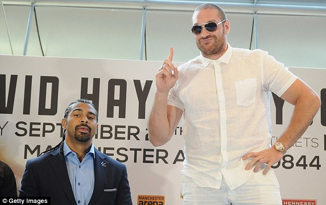 Ambitious: Tyson Fury must overcome domestic heavyweight rival David Haye on September 28
