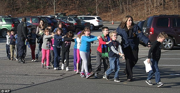 Modeled after: Police in New Jersey said that he was planning an attack similar to Newtown, above, or Columbine, below