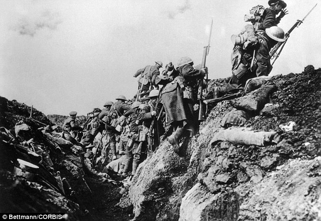 om a World War I trench. --- Ica. 1914-1918, France --- A companymage by   Bettman