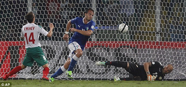Brazil here we come: Alberto Gilardino scored Italy's winner against Bulgaria on Friday to close in on the finals