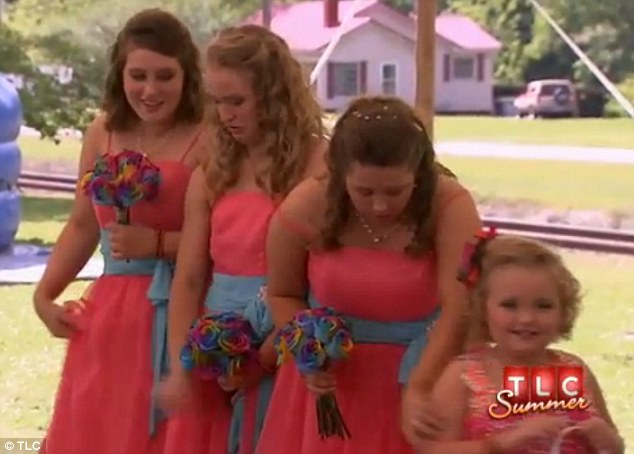 Four daughters: Honey Boo was joined by her three sisters at the ceremony