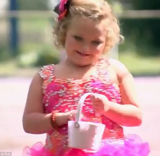 Flower girl: Honey Boo Boo paved the way for her mother with petals