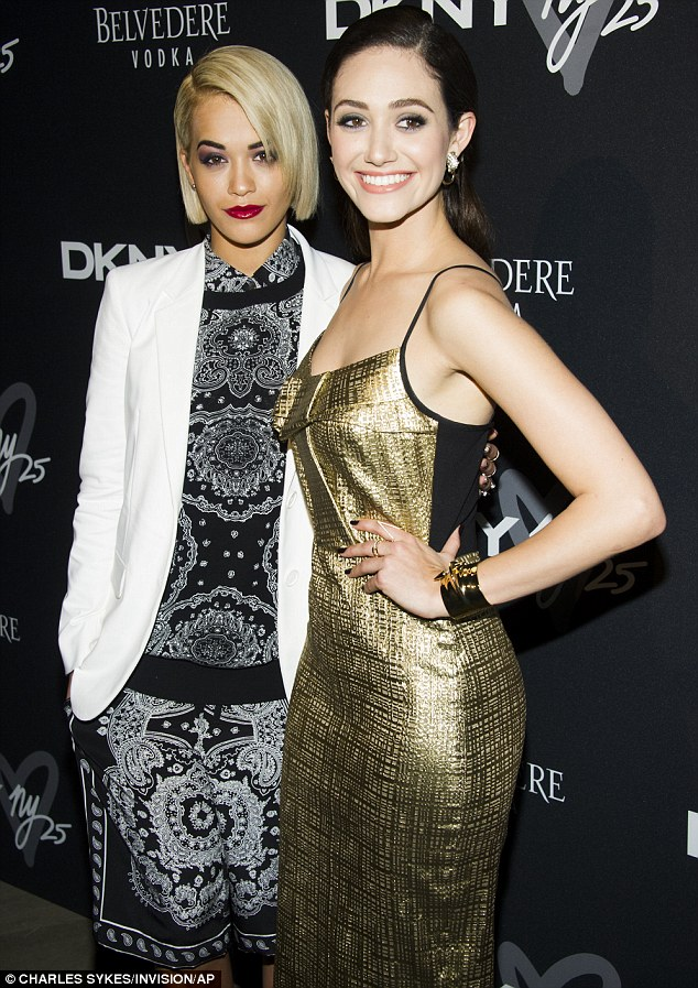 Partners in crime: Emmy revealed that it was Rita who persuaded her to try out twerking on stage with the rapper Iggy Azalea