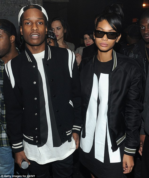 Performers: A$AP Rocky and his model girlfriend Chanel Iman also attended the bash, although did not seem in high spirits