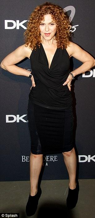 Perez Hilton and Bernadette Peters