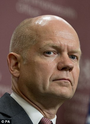 Foreign Secretary William Hague said: 'We have to make sure that this is not just a distraction tactic'