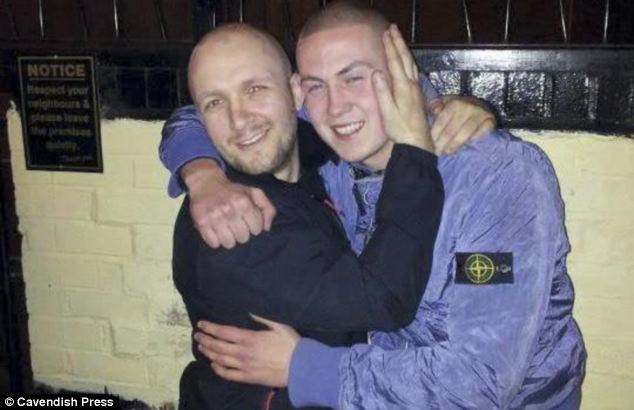 'Polite and likeable': Family paid tribute to James Morgan, right, pictured with Martin Wilson, left,