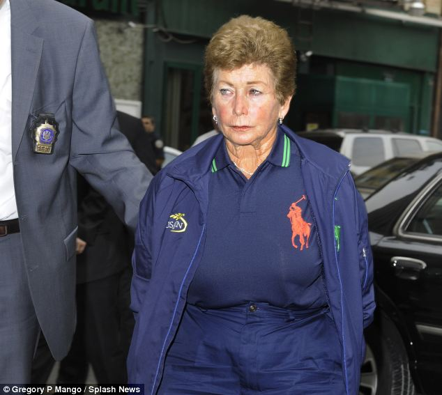 Humiliating: Goodman was arrested in New York for the alleged murder of her husband, Alan, last year