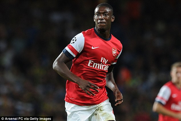 Chance: Sanogo barely had a chance to impress Arsene Wenger before the injury