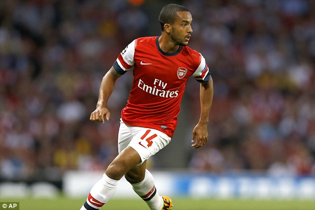 Favourite position: Theo Walcott has been tried up-front in the past