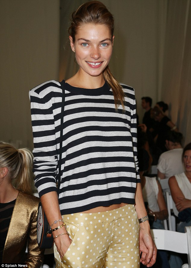 Flawless: Jessica Hart l;looked absolutely stunning with minimal make-up and a simple style
