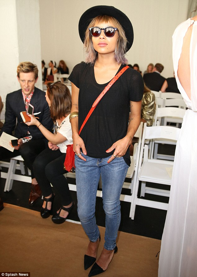Cool customer: Zoe Kravitz appeared to be in a very relaxed ensemble at the event