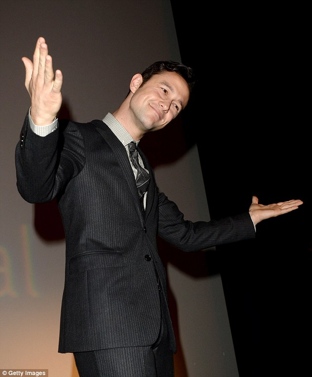 Soaking up the applause: Actor/filmmaker Joseph Gordon-Levitt speaks at the Don Jon