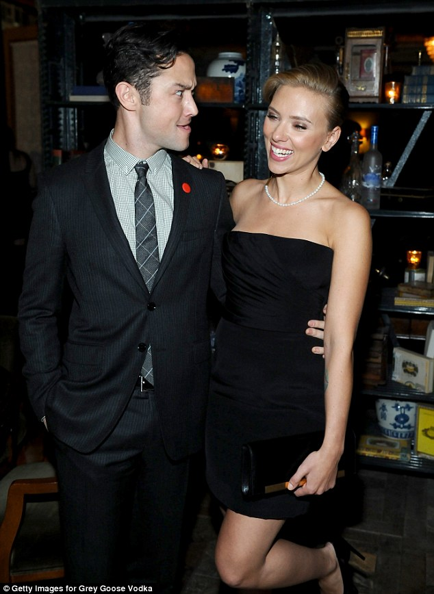 Going crazy: Joseph and Scarlett relaxed at the Grey Goose vodka party for Don Jon at Soho House Toronto
