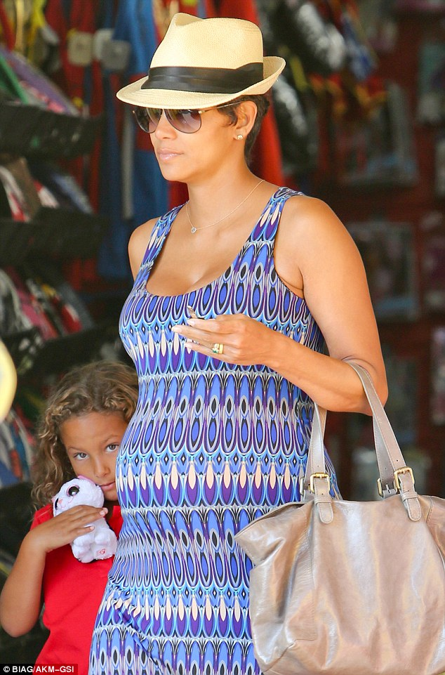 Countdown: While she and partner Olivier Martinez have yet to reveal the exact due date of their baby, the little boy is due some time in Fall