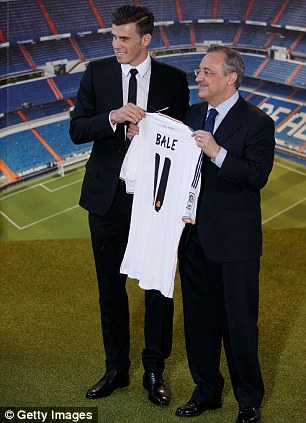 Main man: Bale finally completed his £86milion move from Tottenham to Real Madrid last week