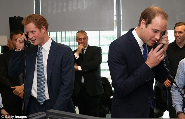 Doting dad: Prince William happily told one caller how his son George, born in July, was doing, telling them: 'He's very well thanks. He's sleeping quite well'