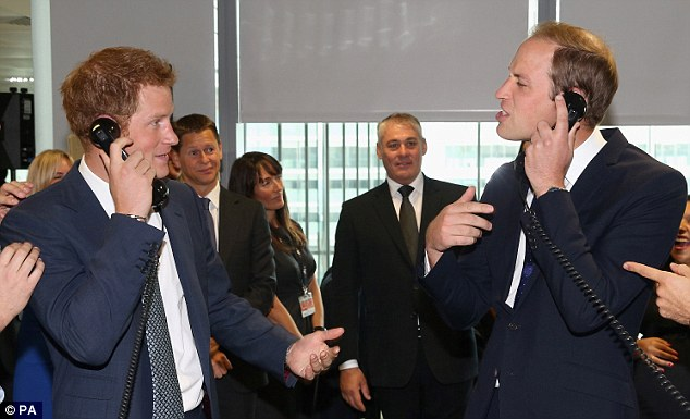 Rivalry: Both Prince Harry and the Duke of Cambridge wanted to raise as much money as possible