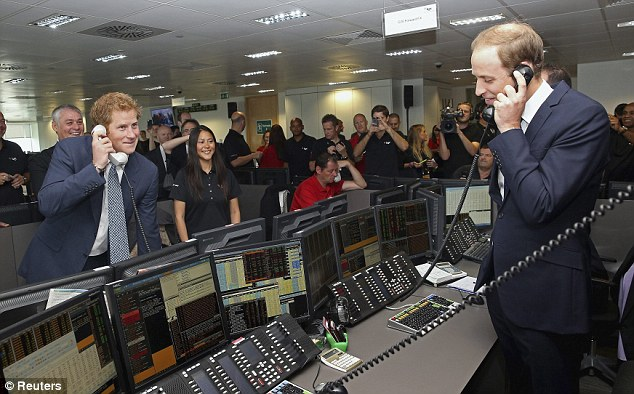 New career? After hearing the value of some of the trades, Prince William joked to his brother that they should start working there